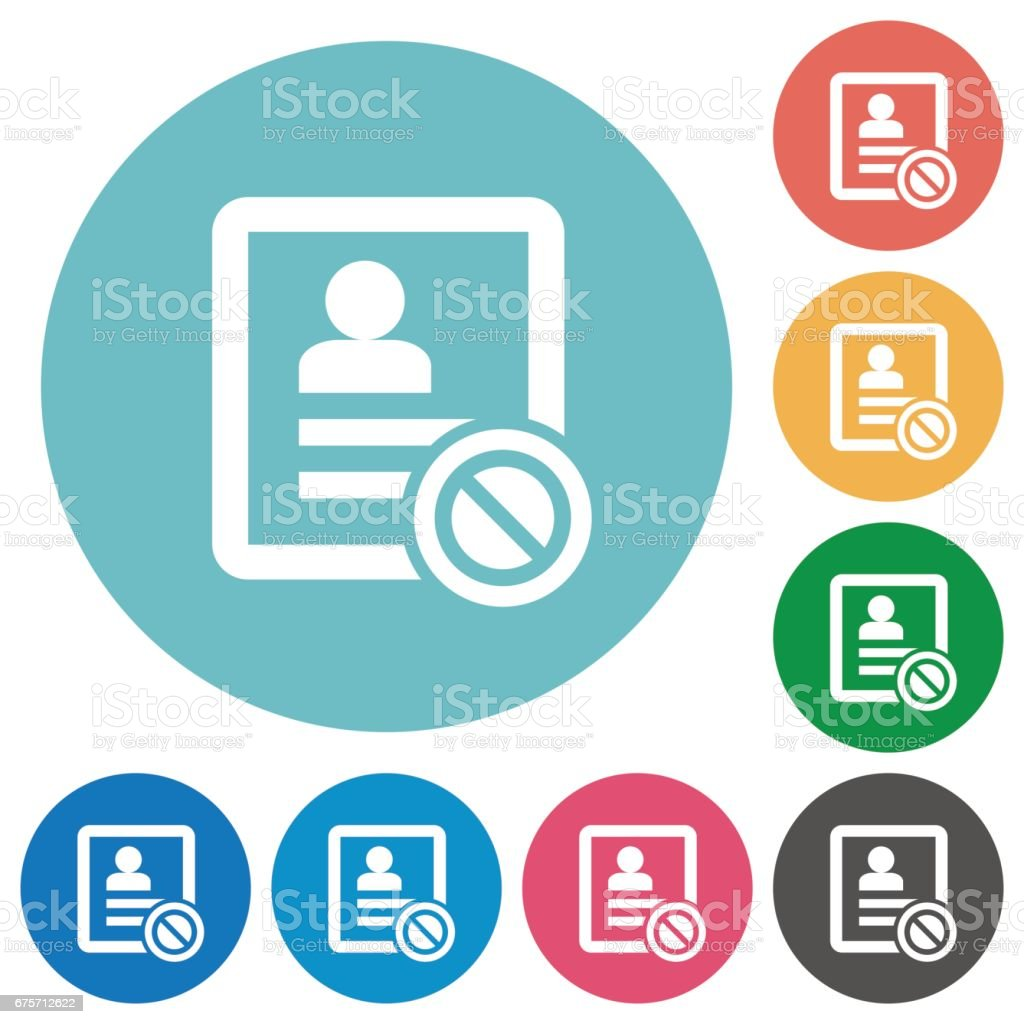 Contact disabled flat round icons 免版稅 contact disabled flat round icons 向量插圖及更多 主題 圖片