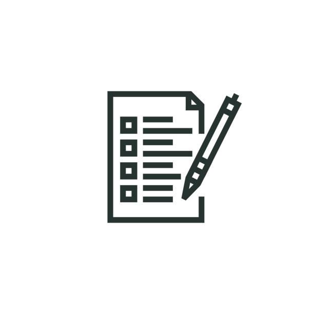 Contact Form Line Icon Contact Form Line Icon register stock illustrations