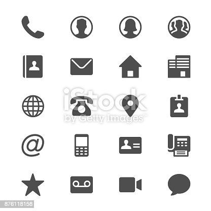 Glyph vector icons. Clear and sharp. Easy to resize.