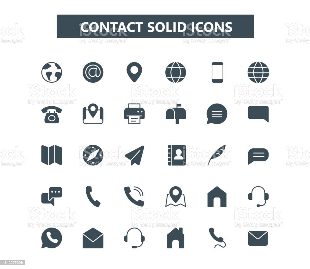 Contact glyph mini icons. 24x24 grid. Pixel Perfect vector art illustration