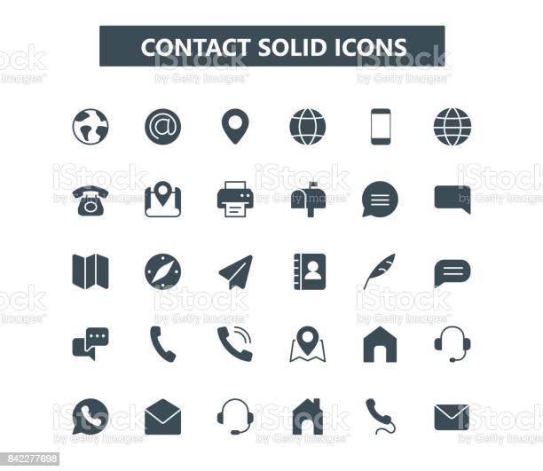 Ilustración de Póngase En Contacto Con Los Iconos Mini Glifo Rejilla De 24 X 24 Pixel Perfect y más Vectores Libres de Derechos de Alfiler