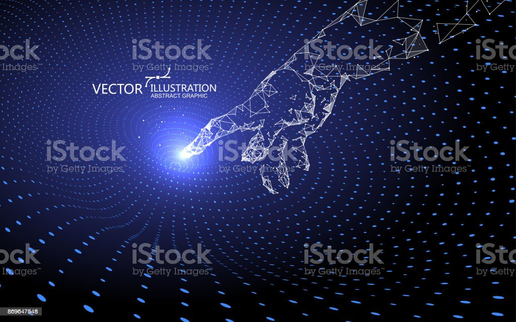 Contact gravitational waves, technology background. vector art illustration