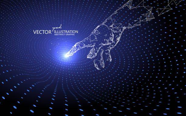 Contact gravitational waves, technology background. vector art illustration