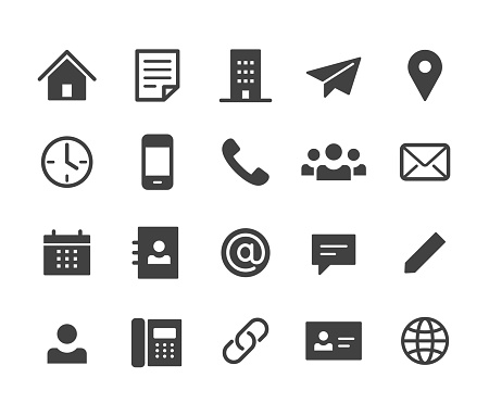 Contact Icons - Classic Series