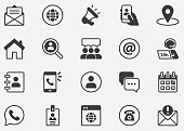 istock Contact Icons. Editable Stroke.Mobile and Web.Contains such icons as Smartphone, Messaging, Email, Calendar, Location.Pixel Perfect Icons 1268634816