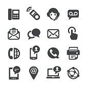 Contact Icons Set - Acme Series