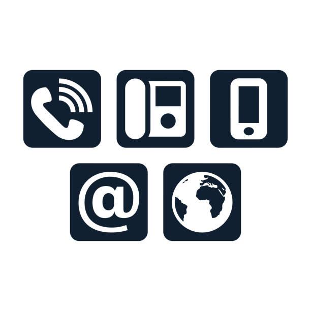 Contacter icônes set - Illustration vectorielle