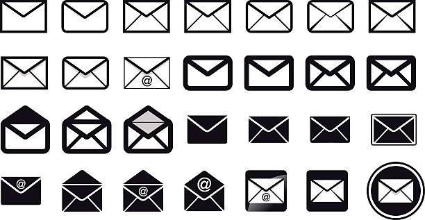 Iconos de contacto - ilustración de arte vectorial