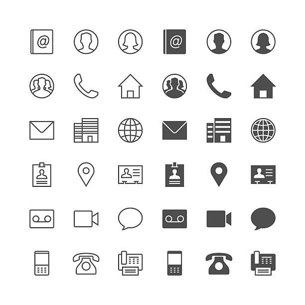 Wenden Sie sich an den Symbole – Vektorgrafik