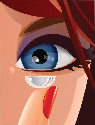 Contact lens close-up