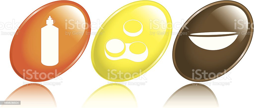 Contact Lens Icons vector art illustration
