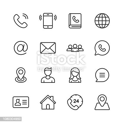Contains such Icons as Smartphone, Customer Support, Messaging, Communication, E-Mail.
