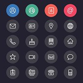 Contact line icons