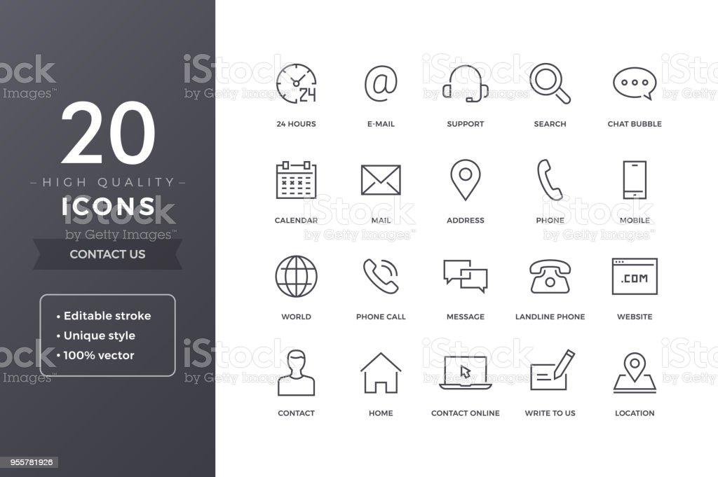 Linha de contacto ícones vetores de linha de contacto ícones e mais imagens de alfinetando royalty-free