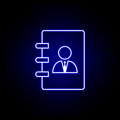 Contact List Businessman Icon Elements Of Human Resources
