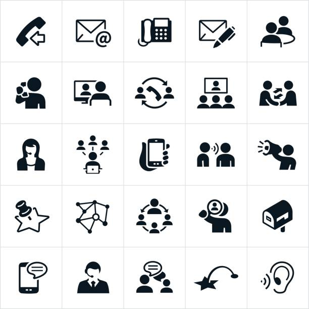 contact methods icons - email icon stock illustrations, clip art, cartoons, & icons