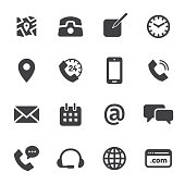 Contact Monochrome Icons
