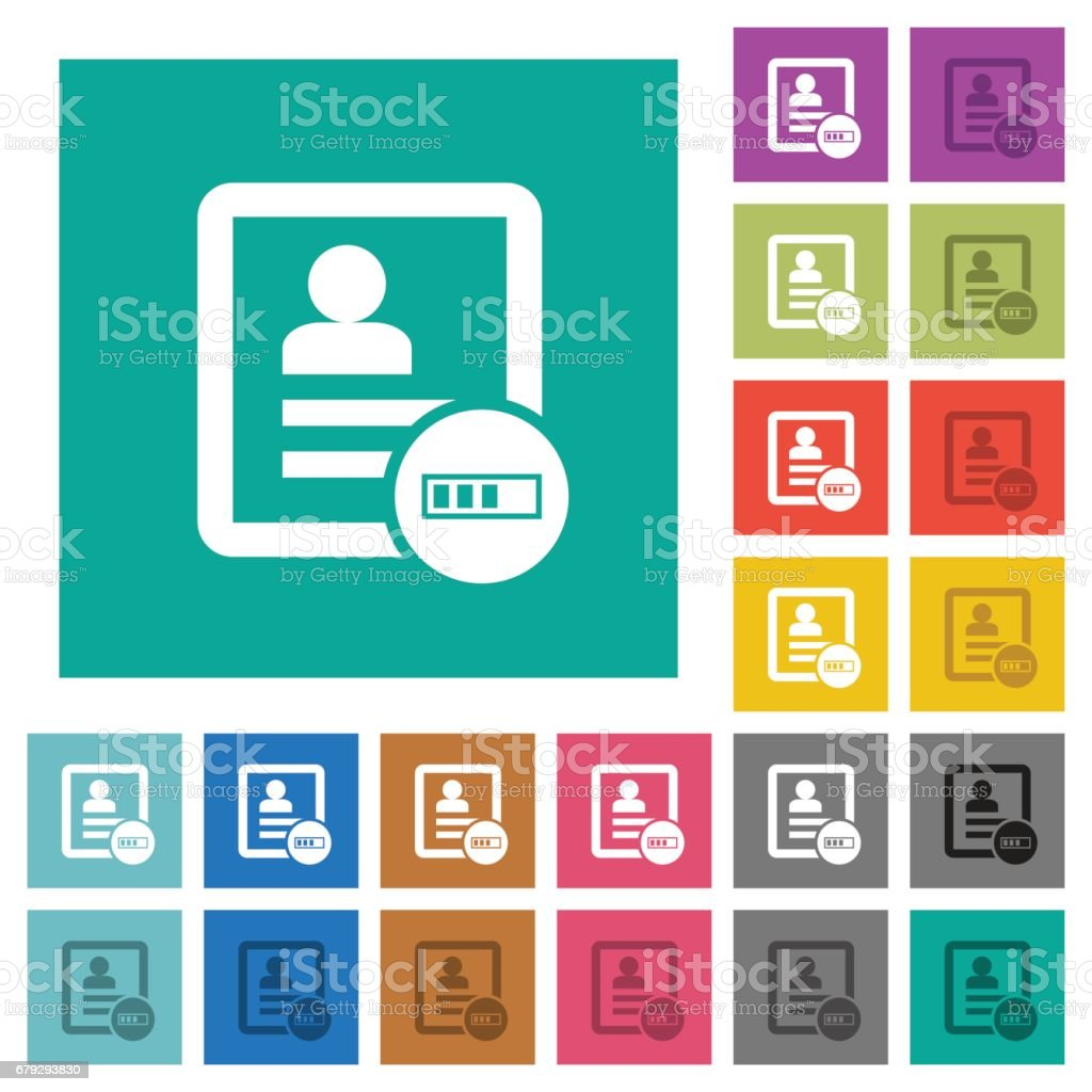 Contact progressing square flat multi colored icons royalty-free contact progressing square flat multi colored icons stock vector art & more images of angle