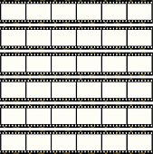 A set of negative strips laid out into a contact sheet, each frame is numbered 1 through 36, exactly like a real piece of film.
