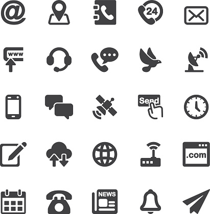 Contact Silhouette icons   EPS10