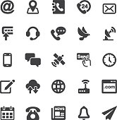 Contact Silhouette icons