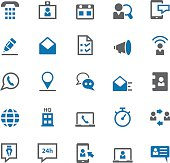 Contact us icon set