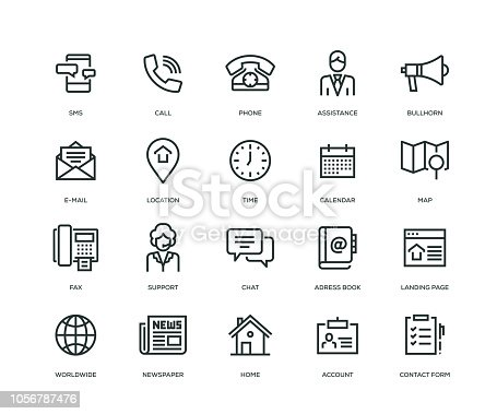 Contact Us Icons - Line Series