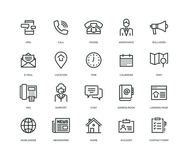 ilustraciones, imágenes clip art, dibujos animados e iconos de stock de entrarnos en contacto con los iconos - serie - física