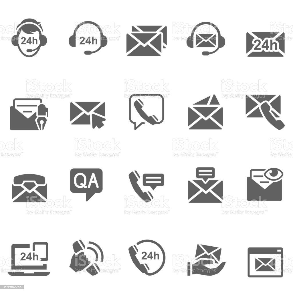 Nous contacter icônes - Illustration vectorielle