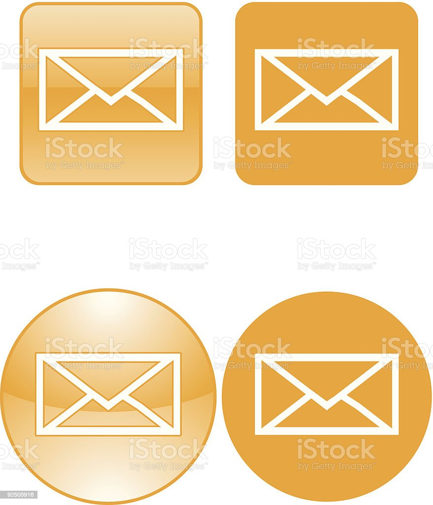 Contact Us letter envelope vector icons royalty-free contact us letter envelope vector icons stock vector art & more images of circle