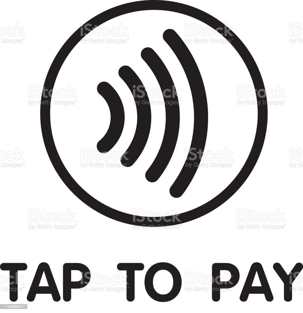 Contactless Nfc Wireless Pay Sign Logo Credit Card Nfc Payment Vector  Concept Stock Illustration - Download Image Now