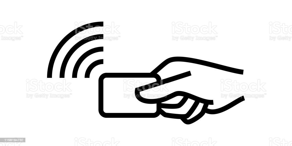 Contactless Payment Credit Card And Hand Pay Pass Logo
