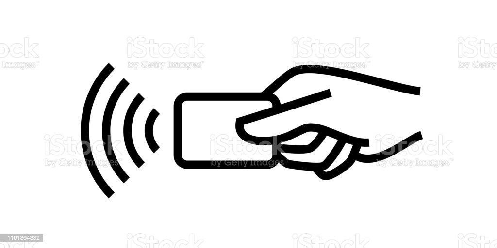 Kontaktloses Bezahlen Kreditkarte Und Handtippen Pay Wave Logo