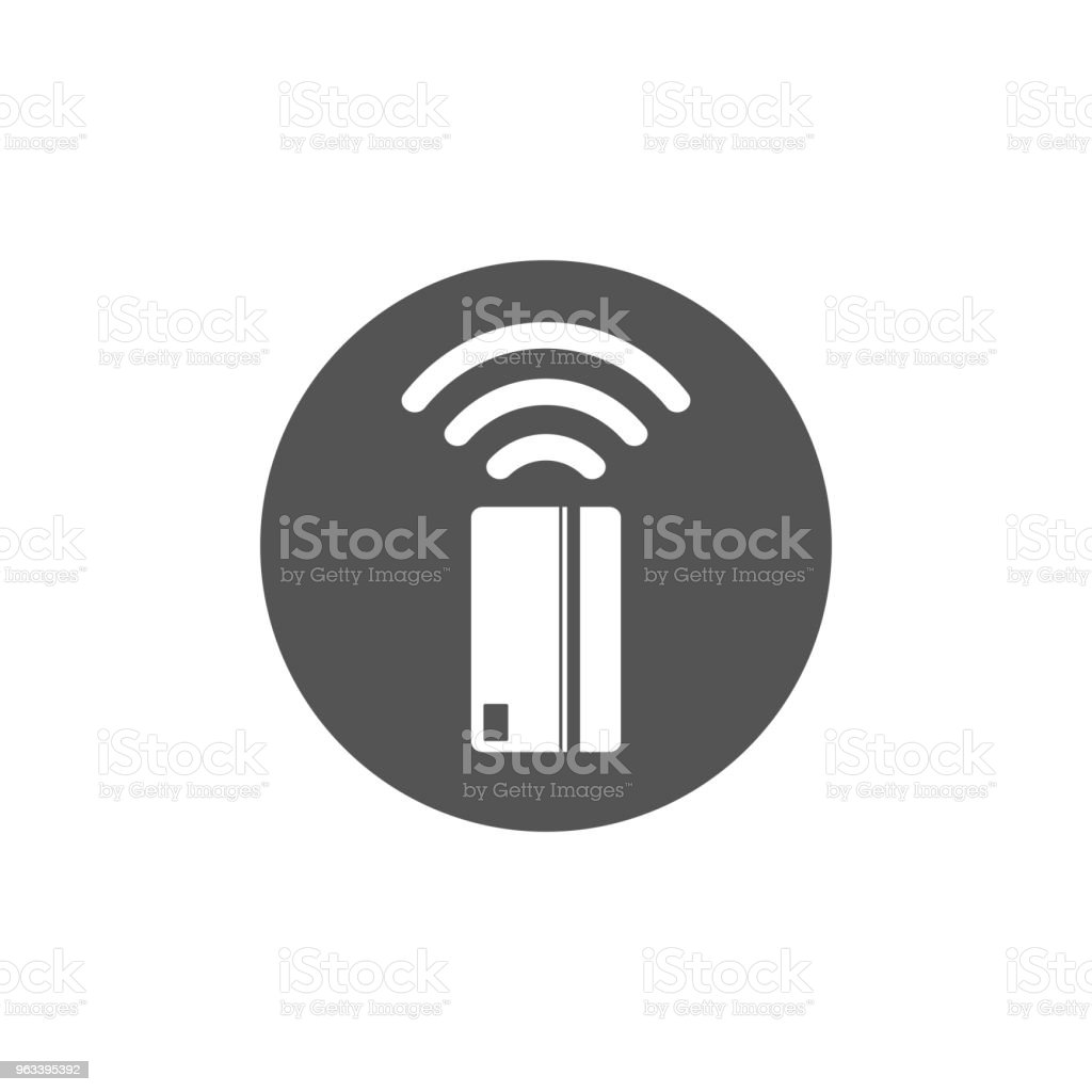 Contactless payment icon. Near-field communication (NFC) card technology concept icon. Tap to pay. vector illustration. - Grafika wektorowa royalty-free (Bank)