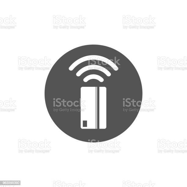 Ikona Płatności Zbliżeniowych Ikona Koncepcji Technologii Karty Komunikacji Bliskiego Zasięgu Dotknij Aby Zapłacić Ilustracji Wektorowych - Stockowe grafiki wektorowe i więcej obrazów Bank