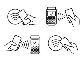 istock Contactless payment icons 1191475404