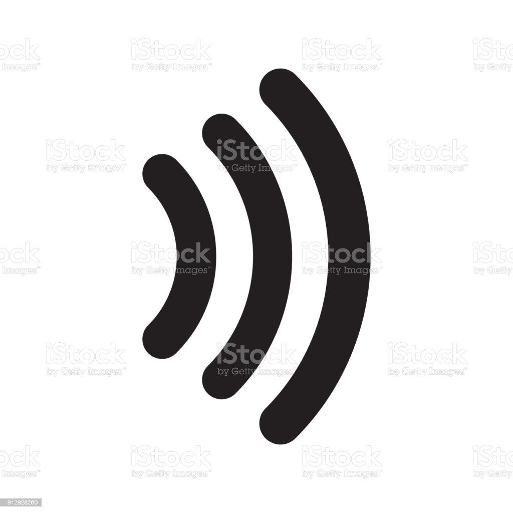 非接触信号アイコンのベクター イラストです無料画像 - アイコンの
