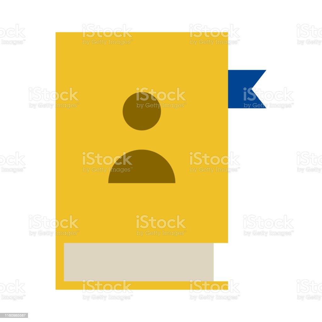 contacts book icon. flat illustration of contacts book vector icon...