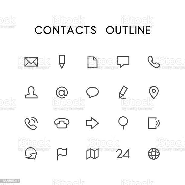 Contacts outline icon set vector id638895014?b=1&k=6&m=638895014&s=612x612&h=qx5mbzxz5s7s1drna70nnd7gb74  7etuhmobrscewc=