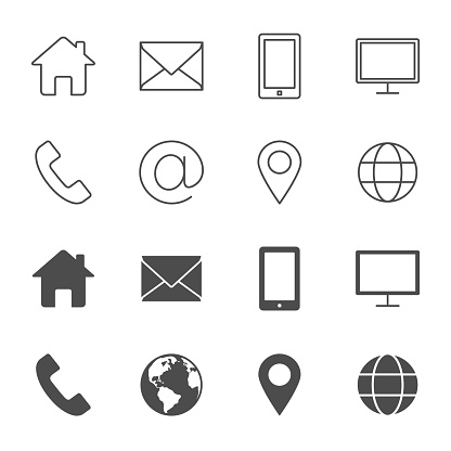 contact icons stock illustrations