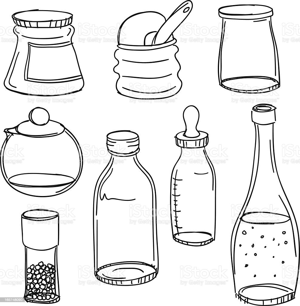 Container collection royalty-free stock vector art
