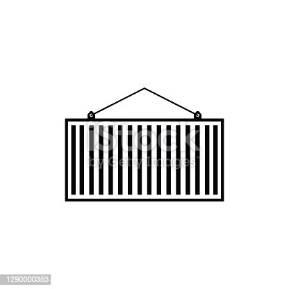 Container icon design template vector isolated illustration