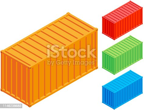 Vector isometric container