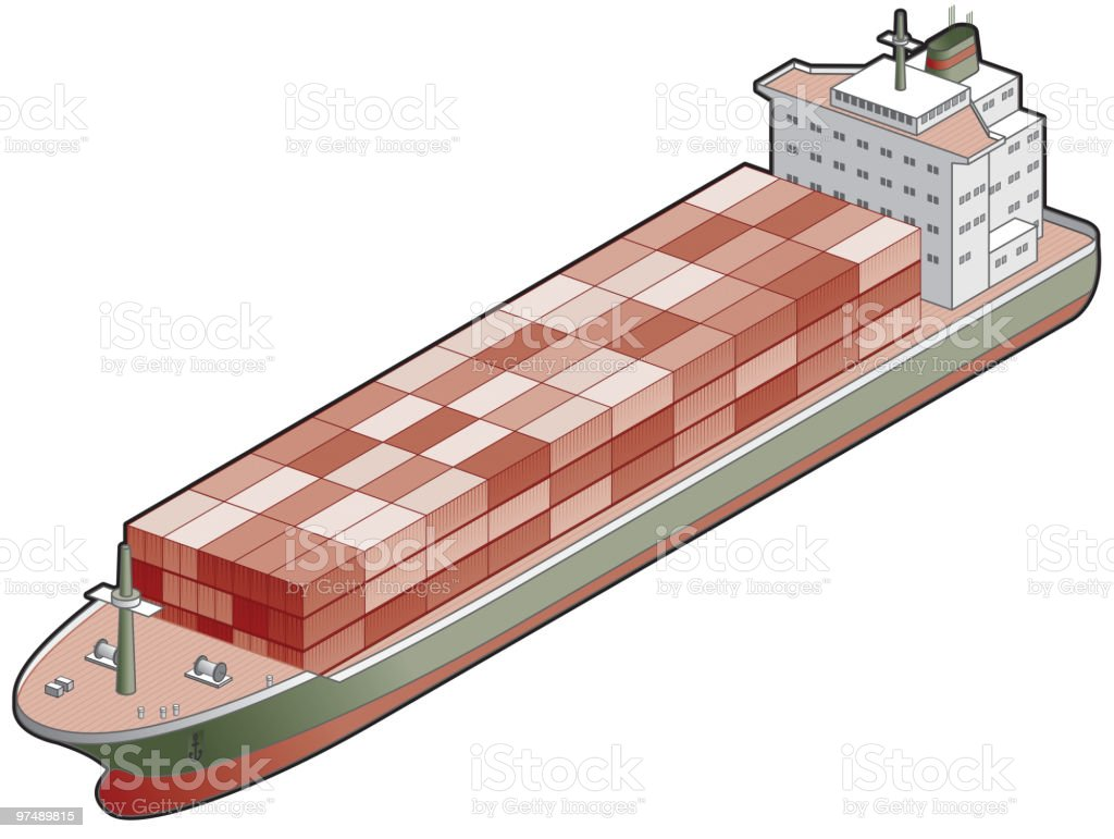 Container Ship Icon. Transportation Design Elements royalty-free container ship icon transportation design elements stock vector art & more images of boat deck