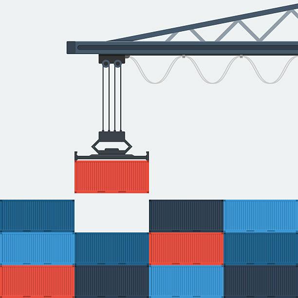 Container Shipping. Container Shipping. container stock illustrations