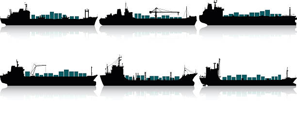 Cargo Ship Clipart Danasohmk Top: Best Container Ship Illustrations, Royalty-Free Vector