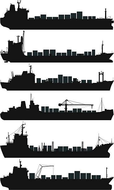 Best Cargo Ship Illustrations, Royalty-Free Vector ...