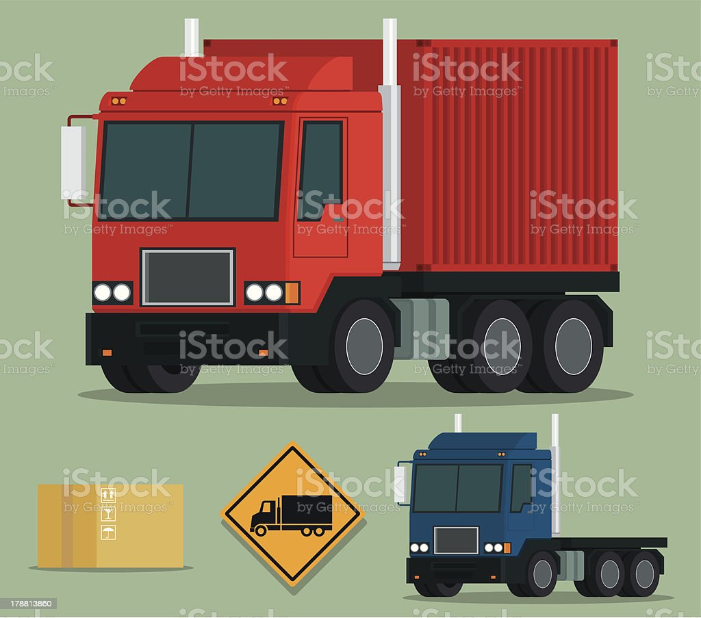 Container Truck royalty-free container truck stock vector art & more images of box - container