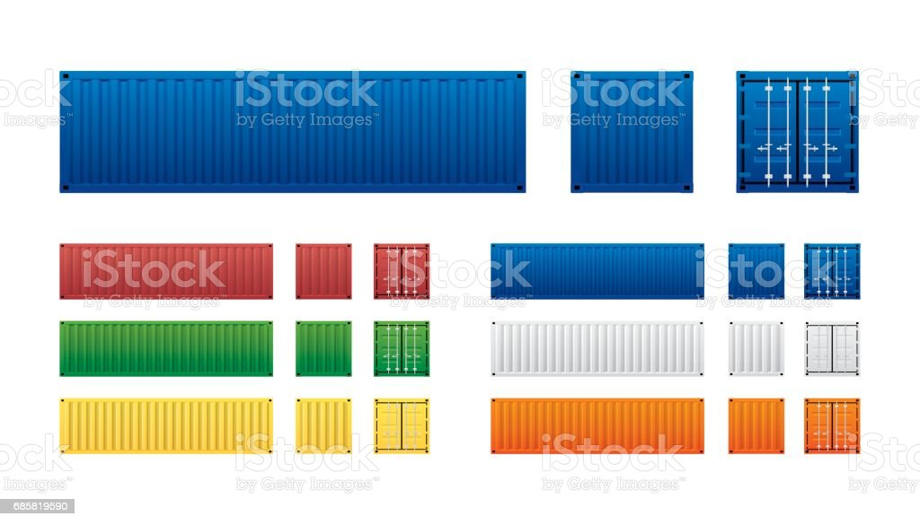 container vector art illustration
