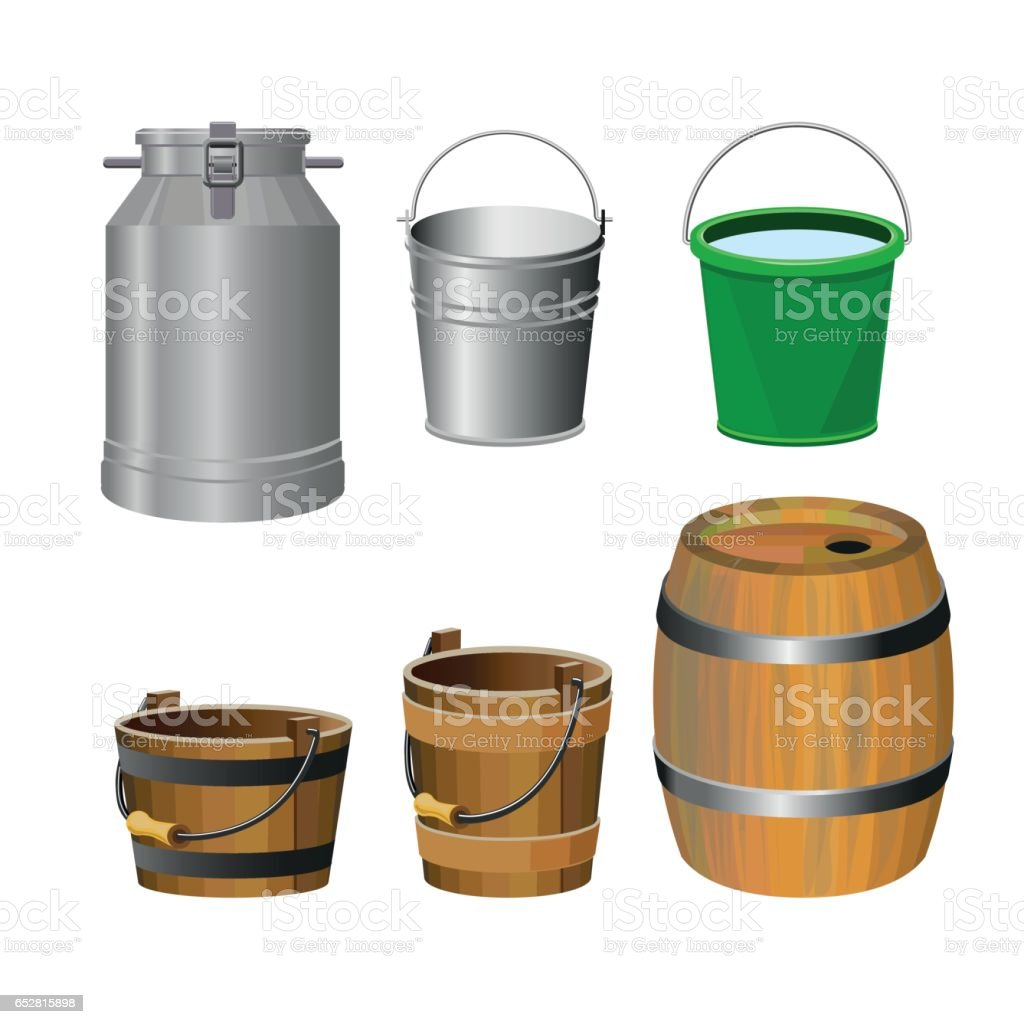 Containers for food and liquids vector art illustration